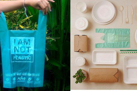 Bolsas de yuca para cuidar el planeta